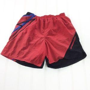Vintage 90s Speedo Colorblock Red Swim Trunks L